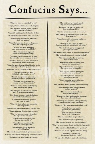 Confucius Says Large Humorous Quotes and Sayings Poster 61 ...