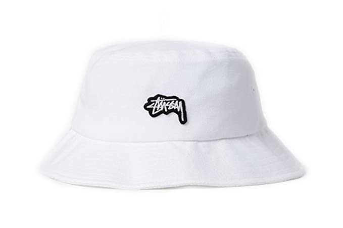 Stussy Stock Logo Pique Bucket Hat in White (S M)  Amazon.ca ... 90f90ddb4977
