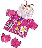Imperméable rose avec motif papillon - 40cm - Vêtements pour nounours, ours en peluche, animaux en peluche - Build a Bear