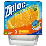 Ziploc Twist 'N Loc Containers, 16 oz. 3 Containers & 3 Lids