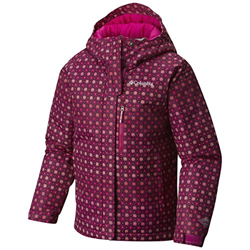 Columbia Kids Girl's Magic Mile Jacket (Little Kids/Big Kids) Deep Blush Pinwheel Print/Deep Blush XX-Small by Columbia