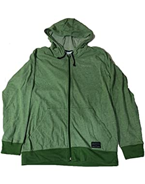 Mens Alpine Thistle Full Zip Hoodie Large Green