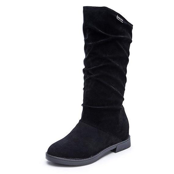 POLP Botas Mujer Invierno Botines y Botas Altas Mujer Botas de cuña Botines Altos Zapatos Mujer