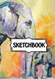 "Sketchbook : Elephant painting: 120 Pages of 7"" x 10"" Blank Paper for Drawing, Doodling or Sketching (Sketchbooks)"