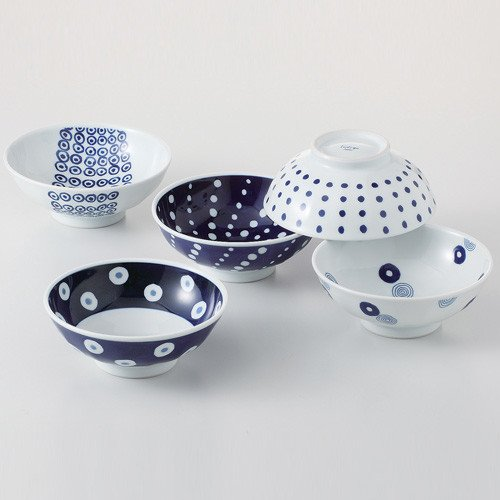 SaikaiToki aimonmaru pattern bowl set (5pattern 5bowls) from Japan 13310 by Saikaitoki