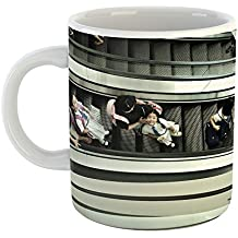 Westlake Art - Student Stairway - 15oz Coffee Cup Mug - Modern Picture Photography Artwork Home Office Birthday Gift - 15 Ounce