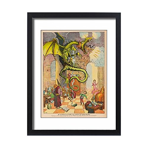 Framed 24X18 Print Of Sorcerer s Apprentice (581242) by Prints Prints Prints
