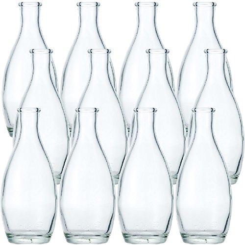 Garasubin.com Sake Bottle TOKRI 180F 180ml (6oz) 1set (12bottles) - Glass Sake Bottle
