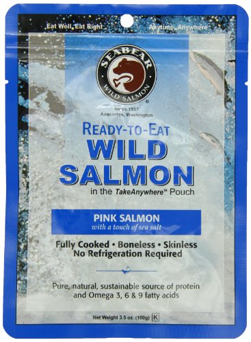 SeaBear Ready-to-Eat Pink Salmon, 3.5 Ounce Unit ()
