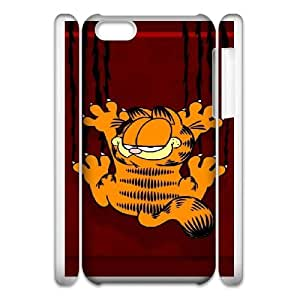 Cartoon Garfield For Cell Phone Case iPhone 6 Plus 5.5 3D White Case Cover W13W7039749