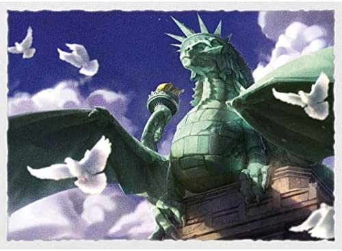 Dragon Shield Matte Art Dragon of Liberty Statue Standard Size 100 ct Card Sleeves Individual Pack