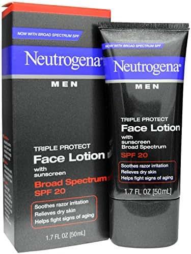Neutrogena, Men, Triple Protect Face Lotion with Sunscreen, SPF 20, 1.7 fl oz (50 ml) - 2pc