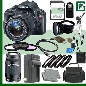 Canon EOS Rebel SL1 Kit de cámara réflex digital con lente de 18 ...