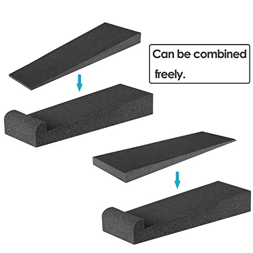 Neewer® 4 Pieces Studio Monitor Acoustic Isolation Pads Dampening Recoil Stabilizer Speaker Risers, 12