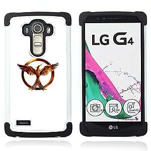 """BullDog Case - FOR/LG G4 H815 H810 F500L / - / """"golden ring /- H??brido Heavy Duty caja del tel??fono protector din??mico - silicona suave"""