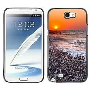 TopCaseStore / la caja del caucho duro de la cubierta de protección de la piel - Sunset Beautiful Nature 116 - Samsung Galaxy Note 2 N7100