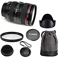 Canon EF 24-105mm f/4L IS USM Celltime Deluxe Zoom Lens Kit for Canon EOS 7D, 60D, EOS Rebel SL1, T1i, T2i, T3, T3i, T4i, T5i, XS, XSi, XT, XTi Digital SLR Cameras Overview Review Image