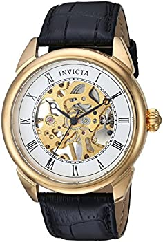 Invicta Men's Mechanical Hand Wind Leather Casual Watch