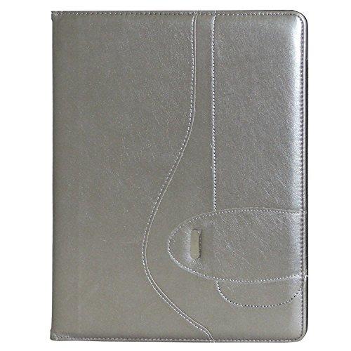 Buxton Sapphire Writing Pad Folio - Silver
