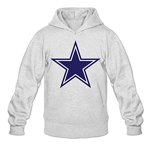 DVPHQ Men's Best Dallas Star Logo Cowboys Hoodies Size XXL Ash