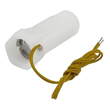 SODIAL(R) Interruptor Magnetico de Flujo de Agua Cascara de Plastico Blanco con Rosca
