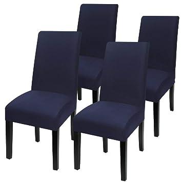 Walkec Fundas para sillas Pack de 4 Fundas sillas Comedor Fundas ...