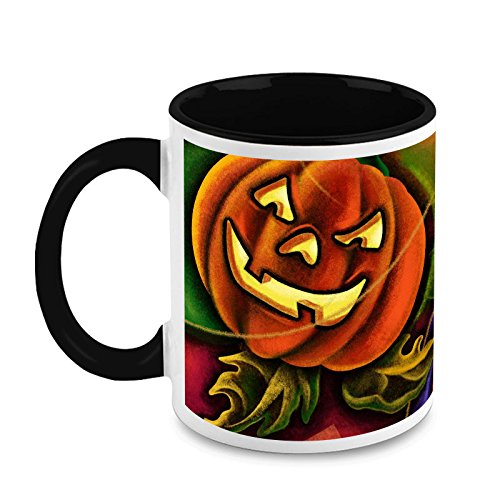HomeSoGood Fierce Halloween Cat Make-up Ideas Coffee Mug]()