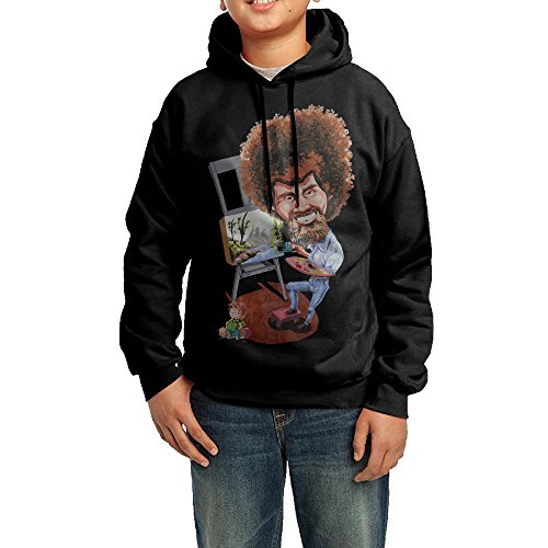 [LULU Bob Painter Ross Men's Cool Long Sleeve Sweater XL Black] (Young Elvis Presley Costumes)