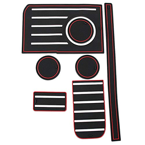 VCiiC Custom Fit Interior Cup Holder Inserts Door Liner Accessories for Toyota Tundra 2014 2015 2016 2017 2018 2019 (Cup Holder Crome)