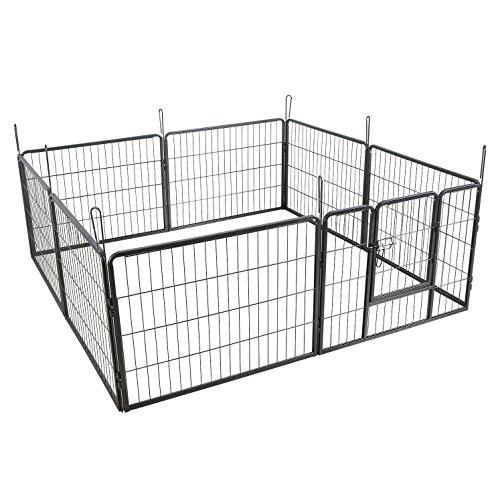 Songmics Welpenauslauf für Hunde Kaninchen 80 x 60 cm PPK86G