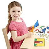 Melissa & Doug Scissor Skills Activity Book, Animal & People Play Set, Pair of Child-Safe Scissors Included, 20 Pages, 11.25″ H × 8.25″ W × 0.5″ L