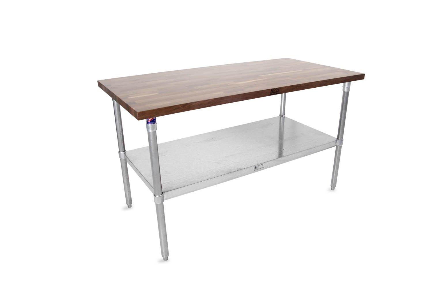John Boos JNS Series 1-1/2'' Thick Walnut Wood Top Work Tables