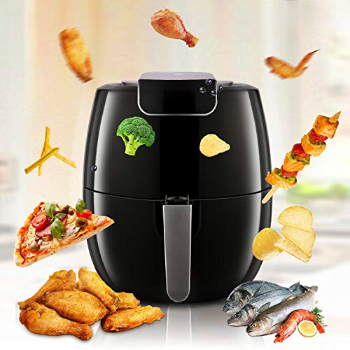 Air Fryer XL 6.8QT, 1800W Electric Hot Air Fryers Oven Oilless Cooker, LCD Digital Touchscreen, 6 Cooking Presets, Preheat & Nonstick Basket for Fast Healthier Fried Food