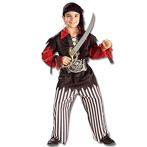 [Rubie's Costume Sea Captain Pirate Costume, One Color, Large] (Child Swashbuckler Pirate Costumes)