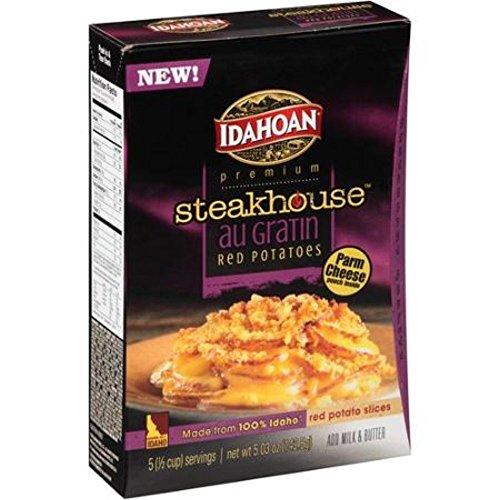 Idahoan, Premium, Steakhouse Potato Dishes, 5.3oz Box (Pack of 3) (Choose Flavors Below) (Au Gratin Red Potatoes)