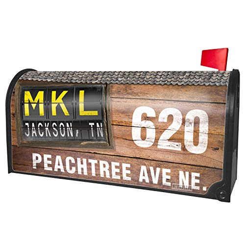 NEONBLOND Custom Mailbox Cover MKL Airport Code for
