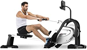 JOROTO Magnetic Rower Rowing Machine with LCD Display 250LB Weight Capacity Row Machine Exercise Rower for Home Gym