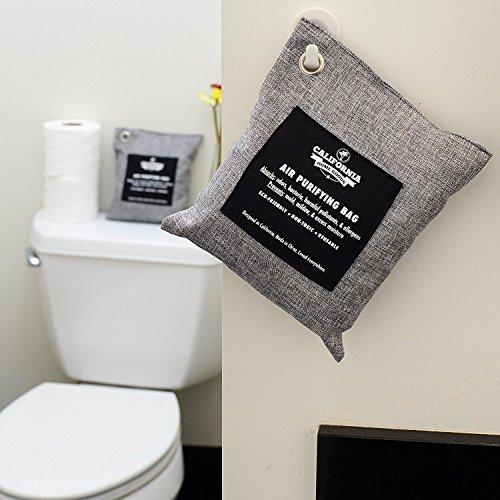 [해외]캘리포니아 홈 200g 활성 대나무 숯 탈취제 자연, 공기 청정 가방, 제습기, 알레르기 프리 필터, 가정용 냄새 중화제, S/California Home 200g Activated Bamboo Charcoal Deodorizer Natural, Air Purifying Bag, Dehumidifier, Allergy-Free Filte...