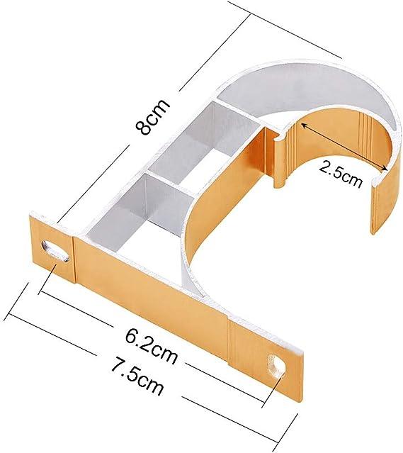Support de Tringle /à Rideau Supportor Tringle /à Rideau fen/être Draperie /à Suspendre au Plafond INCREWAY 2/Ensemble en Alliage daluminium Bracket