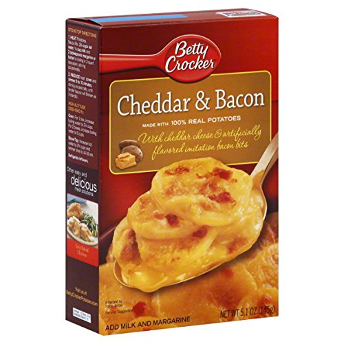 Betty Crocker Cheddar & Bacon Potatoes 5.1 Oz (Pack of 3)