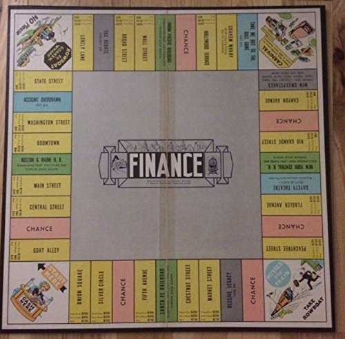 Finance and Fortune Board Game 1955 Vintage or House and Lot Parker Brothers