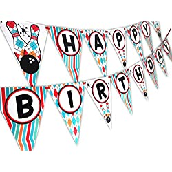 Bowling Happy Birthday Banner Pennant