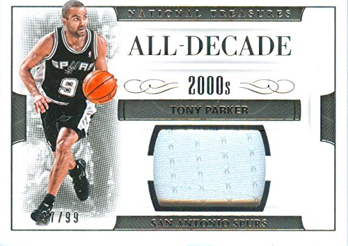 - 2016 Natonal Treasures Authentic Tony Parker Game Worn Jersey Card