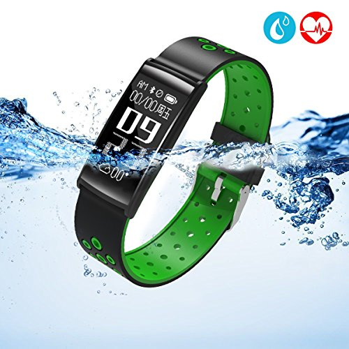 LEKANG Fitness Tracker, Activity Tracker with Wrist-Based Heart Rate Monitor, Water Resistant Smart Band with Step Tracker Sleep Monitor Calorie Counter Notification Alerts (green) (Number Day Sale Phone 1)