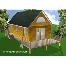 Ordinaire 16x32 Cabin W/Loft Plans Package, Blueprints, Material List