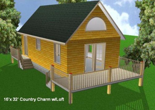 16x32 cabin w loft plans package blueprints material list for 20 x 32 cabin with loft