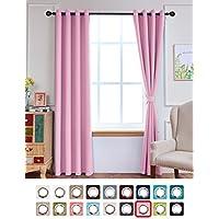 Cute Pink Good Sleep Grommet Blackout Curtains for Girl's...