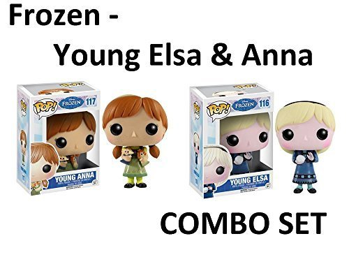 Funko Pop! Disney Movie Frozen Young Children Elsa and Anna Figures Combo Set Package of Two Snow Ball and Doll