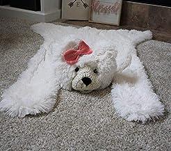 Polar Bear Faux Rug Nursery Decor Small ...