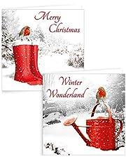 Tarjetas de Navidad de Alannahs, cuadradas, para Navidad, 6 – 32 paquetes de 10 – Paquete de 10 fotos